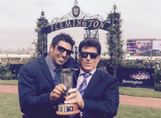 MALAGUERRA Lenny Russo (left) and Bruno Micallizzi after the Bob Hoysted Stakes at Flemington