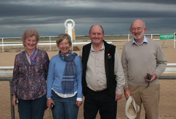 BROOK'S BARGAIN  David Brook (second from right) pictured with the race club committee at Birdsville