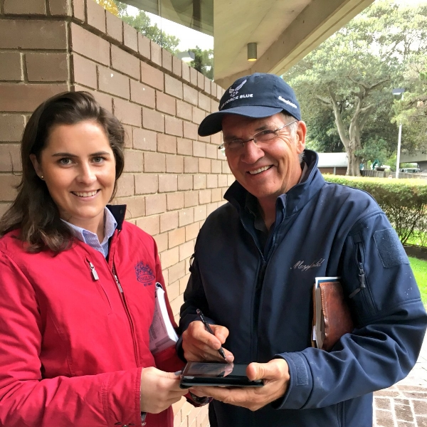 PETER FORD WITH INGLIS SALES COORDINATOR MIKALA DICKIE