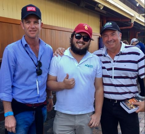 BLAXLAND, FUNG & HOWARD PICTURED AT THE MAGIC MILLIONS NATIONAL SALE