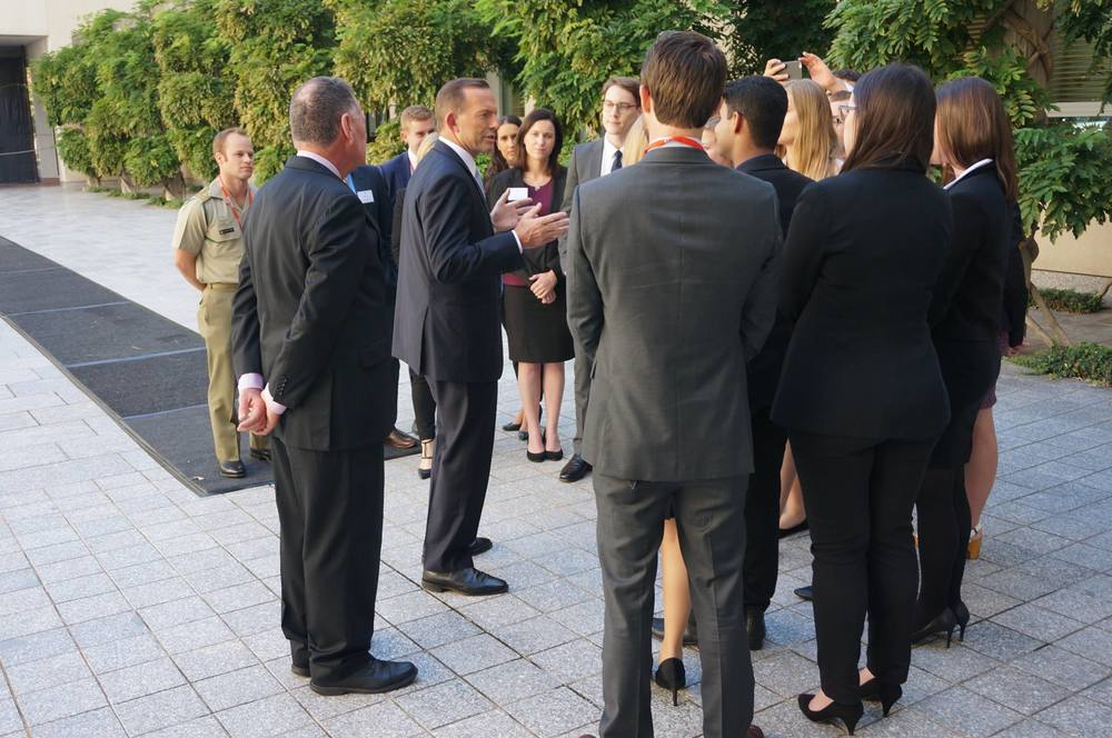 Discussing the relevance of the G20 to Australia's foreign policy with the Prime Minister of Australia. Photo courtesy of Global Voices