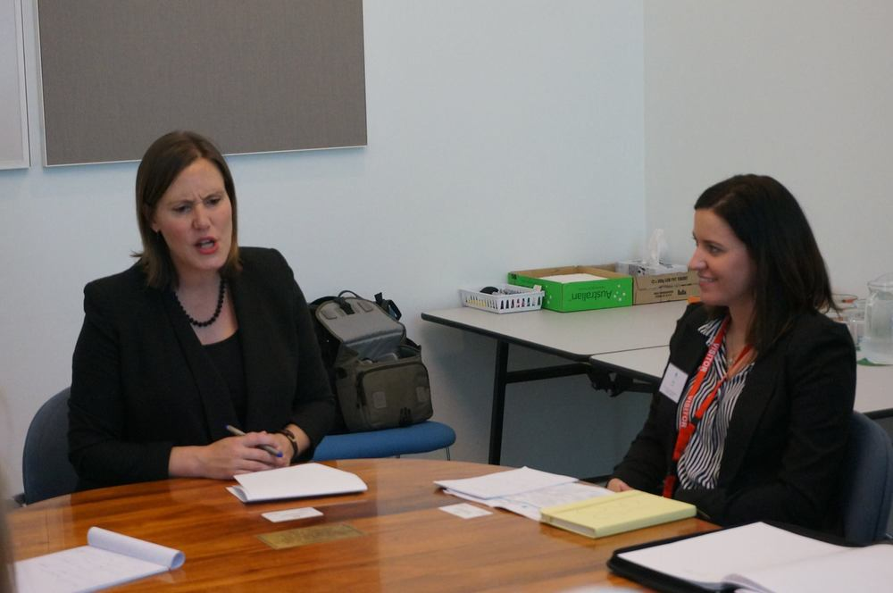 With the Hon. Kelly O'Dwyer, discussing women's contribution toentrepreneurship and innovation in STEM fields. Photo courtesy of Global Voices.