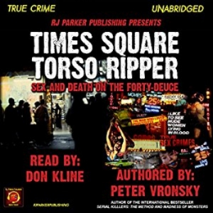 "The story of Richard Cottingham, the ""Times Square Ripper"" or ""Times Square Torso Killer"", one of America's most sadistically depraved serial killers. A shocking case of unbridled sex, sadism, prostitution, porn, singles bars, date-rape drugs, abduction, bondage, handcuffs, duct tape, torture, sexploitation, perverted paraphilic fetishes, serial killing, and dismemberment on New York's notorious Times Square and the Forty-Deuce in the 1970s. Historian Peter Vronsky describes his brief encounter with serial killer Cottingham in a seedy New York hotel in 1979 that later inspired him to write his best-seller history Serial Killers: The Method and Madness of Monsters. In Times Square Torso Ripper, Vronsky explores the history of the notorious Forty-Deuce strip on 42nd Street near Times Square and how it spawned the sadistic monster Richard Cottingham in an era before the term ""serial killer"" had been coined in popular culture."