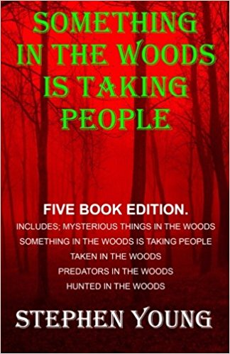 Five Book Collection of the Bestselling Books. Five Book Series, 675 pages, featuring; Something in the Woods is Taking People, Hunted in the Woods, Predators in the Woods, Taken in the Woods, Mysterious things in the Woods. SOMETHING IN THE WOODS IS TAKING PEOPLE. Something unknown that we cannot define; something that others have had the misfortune to encounter. People snatched soundlessly, never to be seen again. Or returned; dead. A strange and highly unusual predator. Highly intelligent. Very successful. And able to overpower someone in an instant. This is a puzzle. An often deadly one. Here follows some very troubling and disturbing accounts. Something in the Woods is taking people....