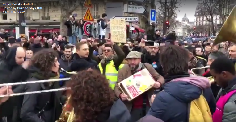 Music Protest French General Strike Yellow Vest 2018 December
