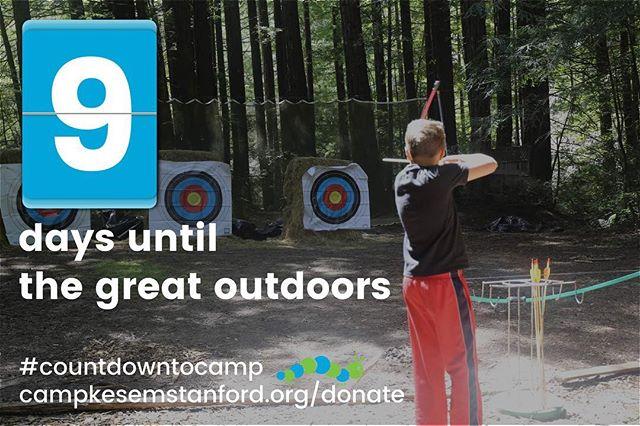 9 days until Camp Kesem 2017! #CountdownToCamp