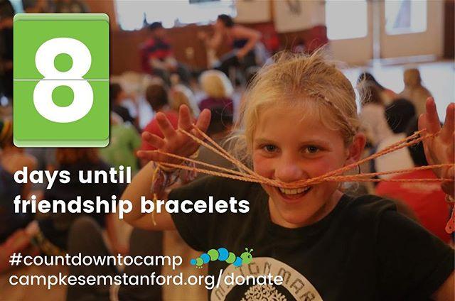 8 more days!!! #CountdownToCamp #stanfordcampkesem