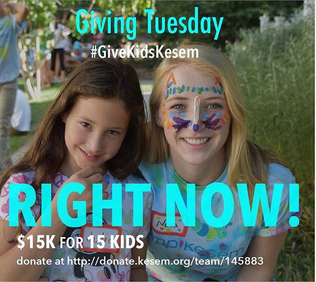 UPDATE: We have currently raised $9730.81 for #GivingTuesday!!! If we reach our goal of $15K by the end of the day, one of Camp Kesem Stanford's partner foundations will MATCH EVERY DOLLAR!  Donate now at https://donate.kesem.org/stanfordgivingtuesday or check out our Facebook page and help us #GiveKidsKesem!