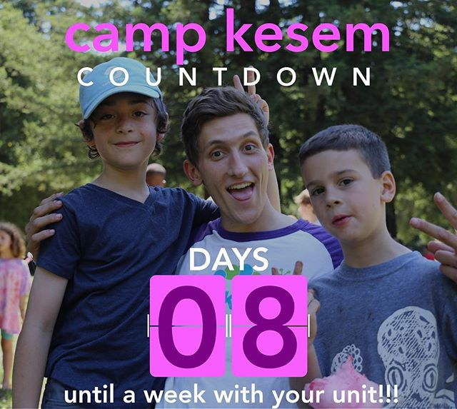 "8 days until camp!!!! 8: the number of counselors per unit. Unit bonding is such a special part of Kesem. Each unit functions as a tight-knit sub-community at camp. It is truly so special to experience camp with the 8 counselors and ~16 campers that comprise each color of the rainbow! - ""My unit is my family."""