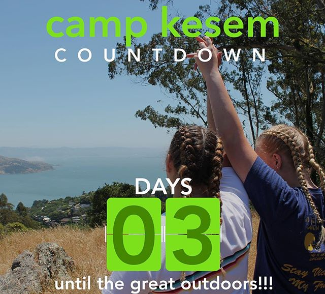 "3 days until camp!!!! 3: the number of days that Silver and Gold campers are out on OLP (Outdoor Leadership Program). This backpacking trip is an incredible culmination of their years at Kesem for many campers. The outdoors have a very special ability to bring people together. - ""I have always loved the outdoors, but being able to bond with so many GREAT people, I have come to see how much simplicity can be peaceful and amazing."""