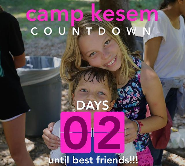 "Ahhh two days until camp!!! Pack your bags and get ready to not only be your best self but also be with your best friends. Whether it will be your 8th year or your first year, whether you be coming with a sibling or with simply yourself, friendships will form and grow at camp is a very special way. See you in 2 days! - ""My friends at Camp Kesem are special to me because they are so deep, lovable, and we have great conversations. They are so real."""