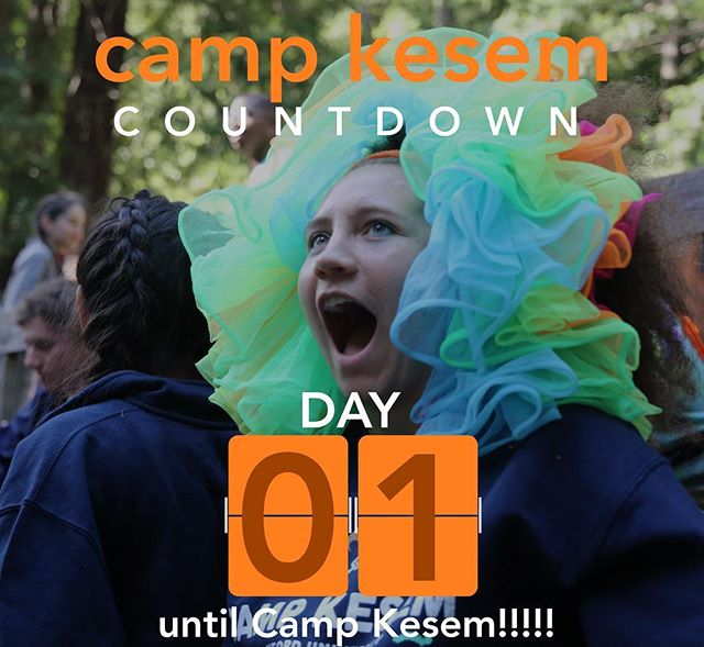 "Camp starts tomorrow!!! We are all so excited to welcome everyone in the morning to the best week of the year! Get a good night's sleep, and see you bright and early for camp drop off!! - ""KESEM IS MAGIC"""