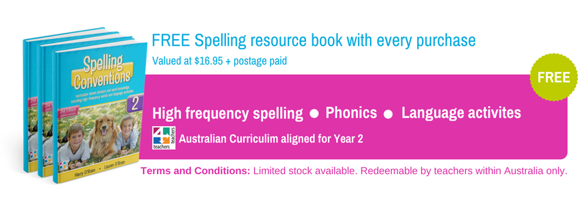 Free spelling resource book with every RTA purchase