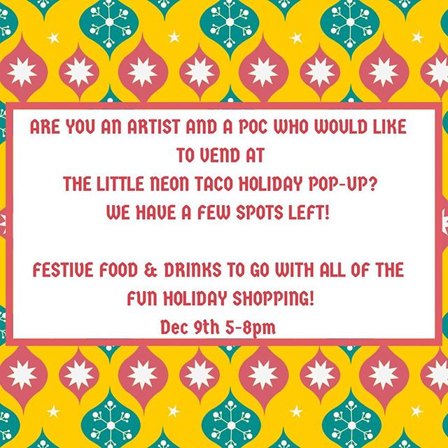 Msg us or @osiristhegreat to get in on the fun night! #holidayparty #eatshoplocal