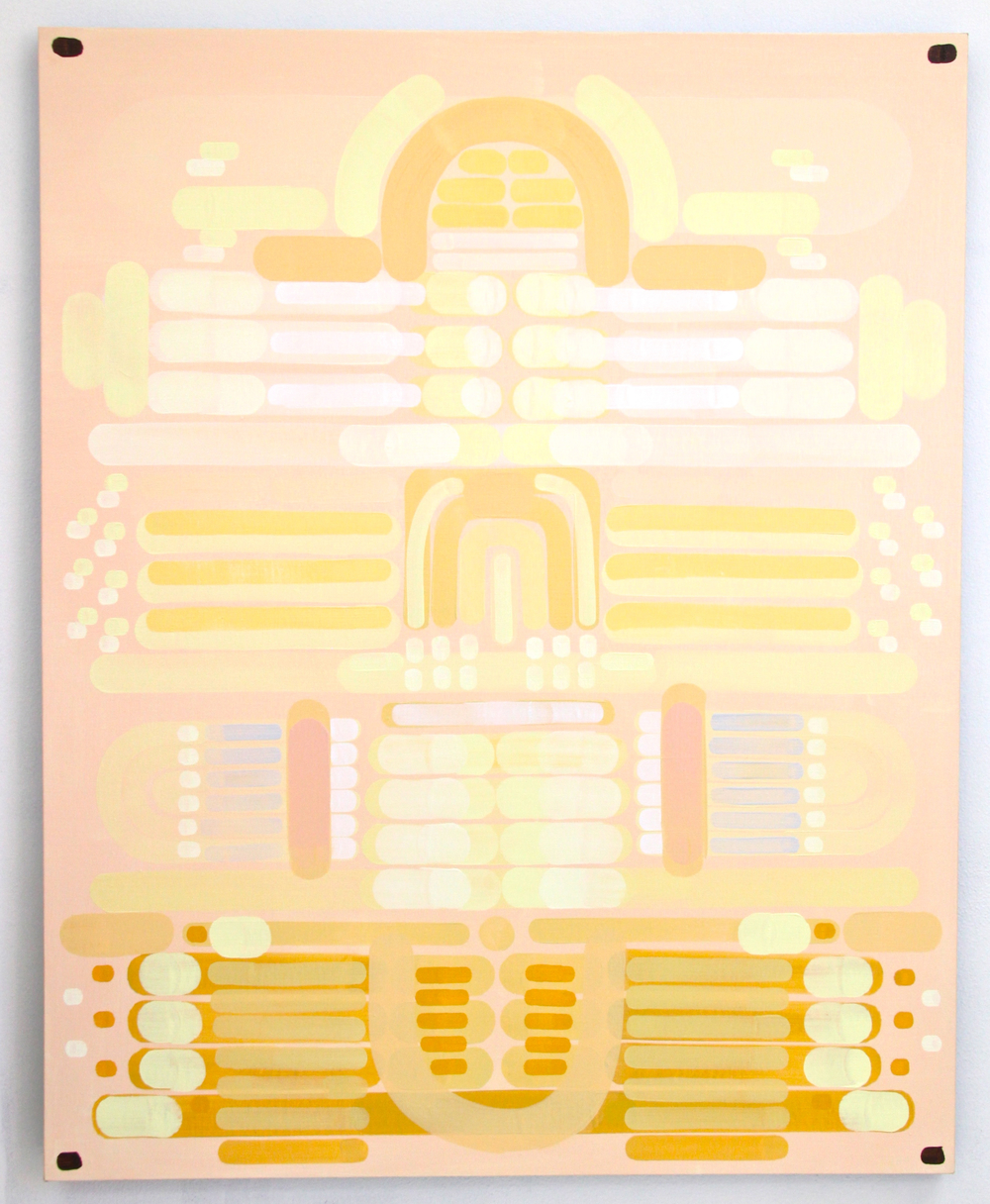 Deco Deco oil on Indian linen 60 x 48 inches 2014