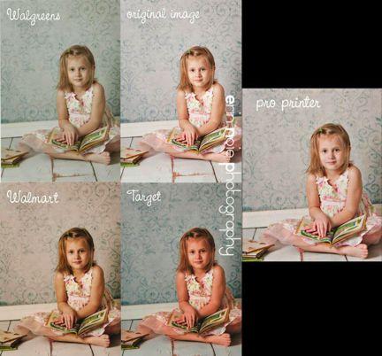 wal mart prints vs professional leah rachel