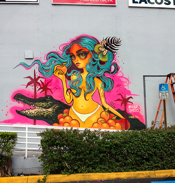Murals tati suarez for Downtown hollywood mural project