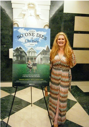 "Michelle Whitedove at the HBO Premiere party of ""No One Dies in Lily Dale"" in New York City."