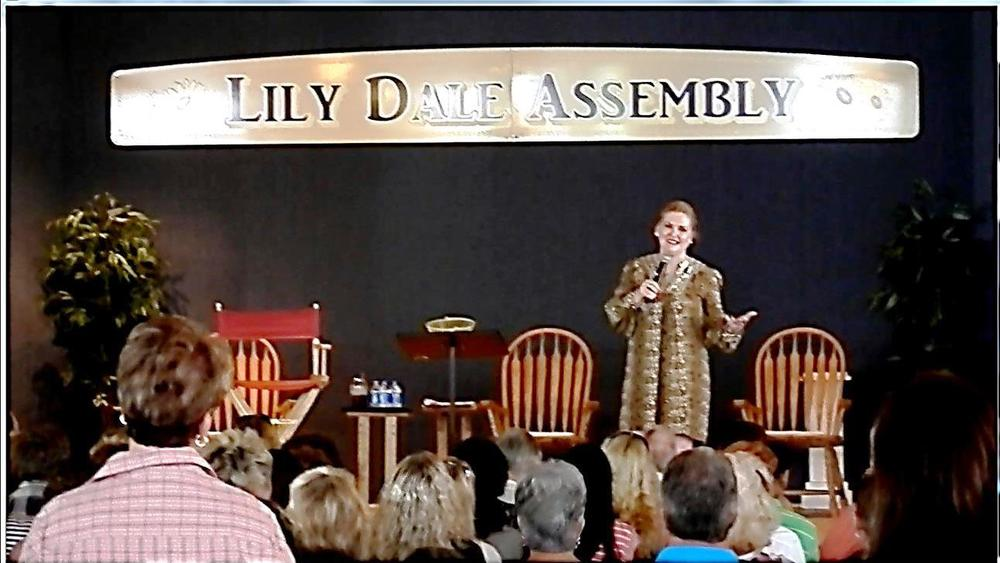 Speaking as a spiritual teacher at Lily Dale