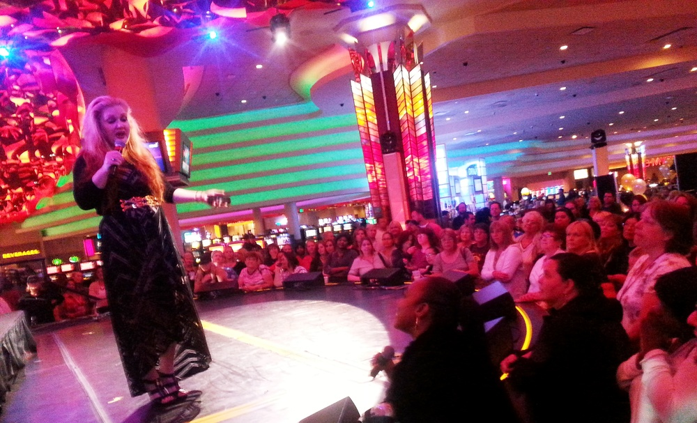On Stage at Mystic Lake Casino