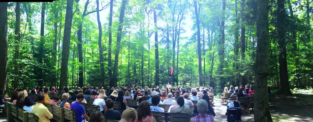 Summer Message Service at Inspiration Stump