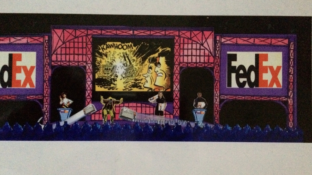 FedEx corporate conceptual sketch