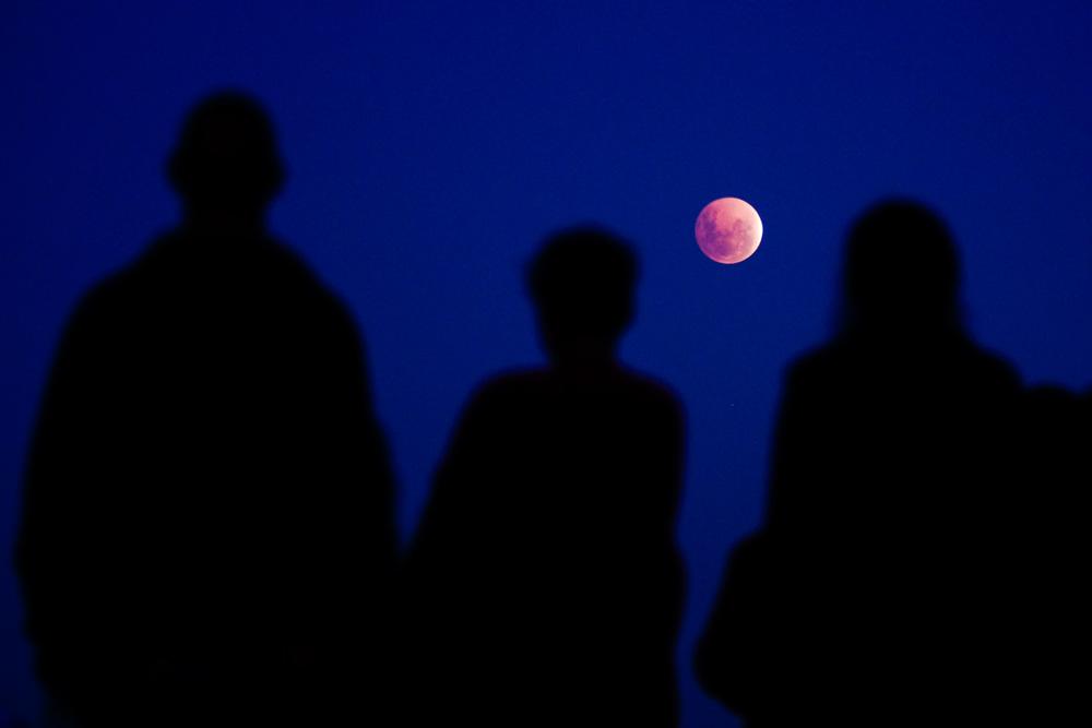 Full moon blood moon