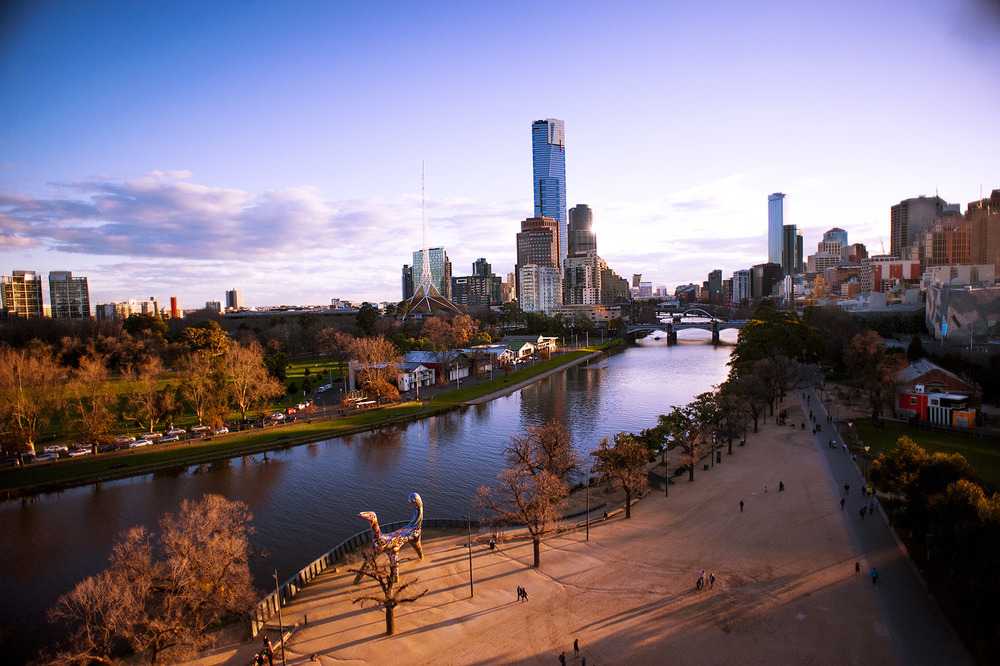 A view from Birrarung Marr