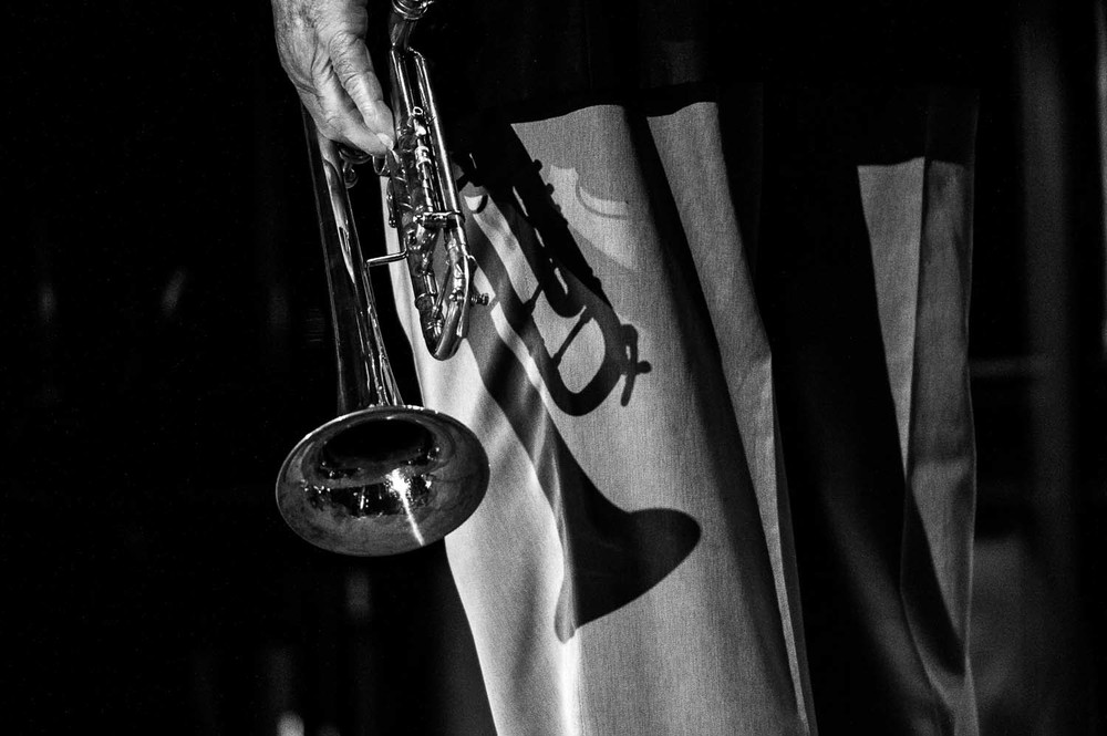 Trumpet in Black and White