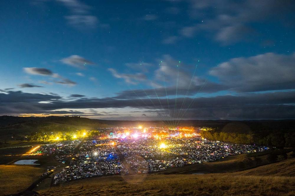Night Landscape of Rainbow Serpent Festival