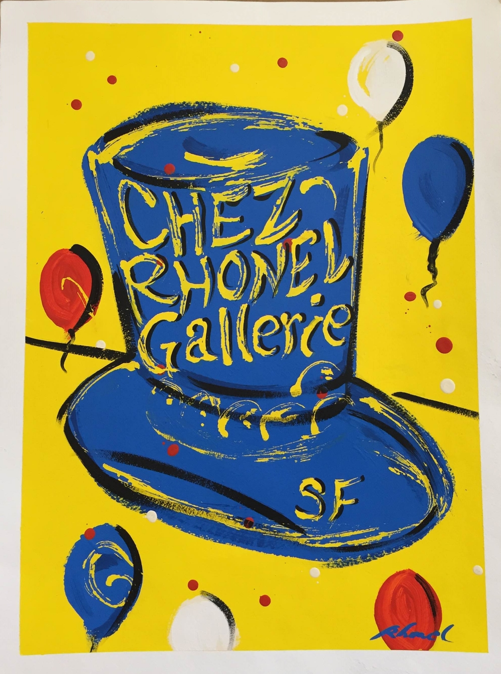 Chez Rhonel Poster (original)