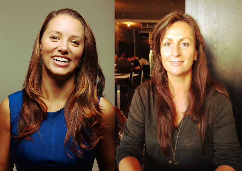YogaHood Directors : Madeleine La Ferla  MLF  (left) and Lisa Matthews  LM  (right)