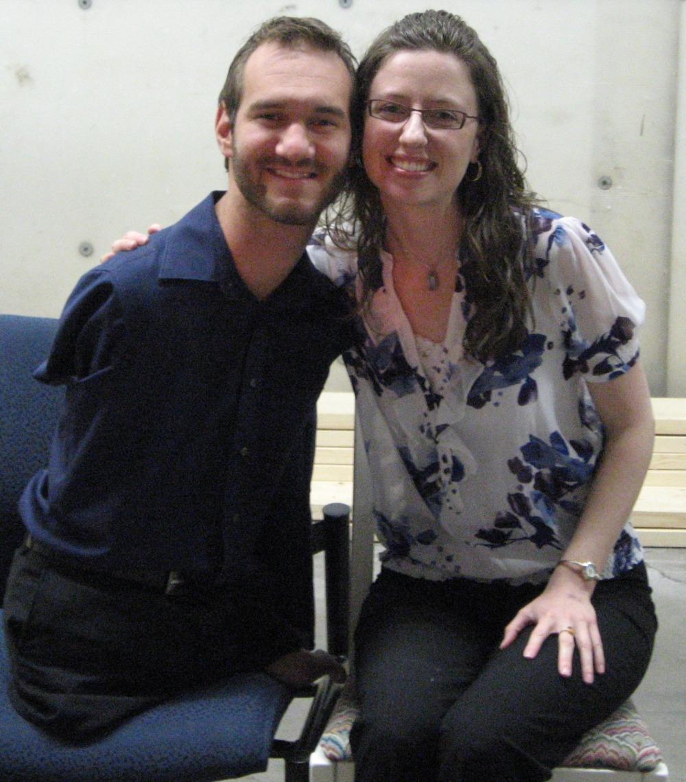 Me with one of my heroes, Nick Vujicic, who I met in 2010.