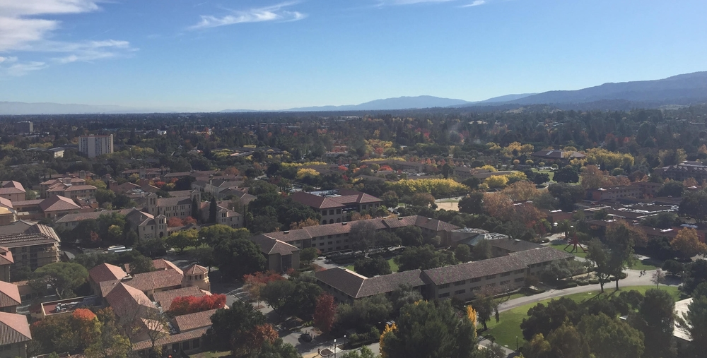 My view from Hoover Tower at Stanford University in November 2015.