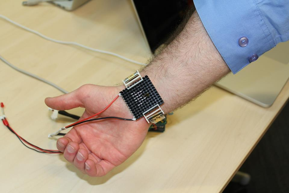 Some MIT students created this wrist band called Wristify. It delivers hot or cool thermal pulses to keep the body comfortable by monitoring air and skin temperatures. I would love to have one of these in the desert.