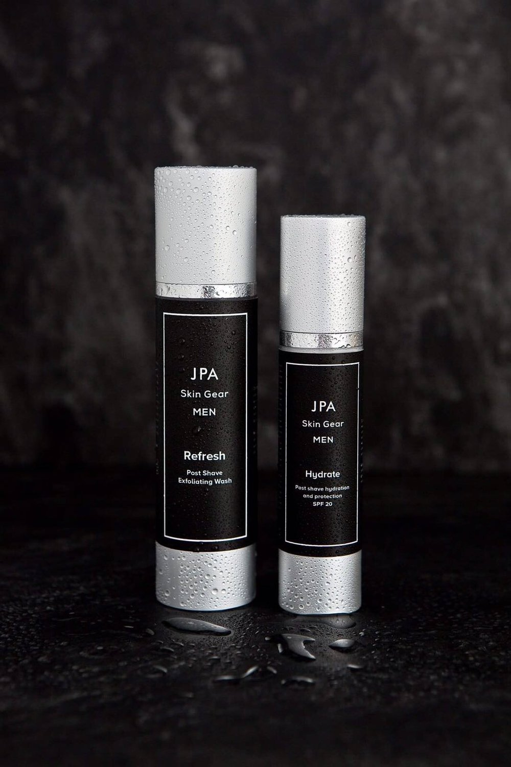 Post Shave Hydration & Protection - Our JPA Skin Gear range is brand new to the market and already hugely popular. When shaving, you draw a lot of moisture out of your skin, leaving the skin dry, irritable and sensitive. This can also lead to looking aged. Hydrate is very effective at restoring the moisture to your face. There's nothing worse than having tight, sensitive skin around your face after shaving. Hydrate will leave your skin looking and feeling supple. Even better - hydrate includes SPF 20, so protects your skin from harmful sun rays, which age the skin.