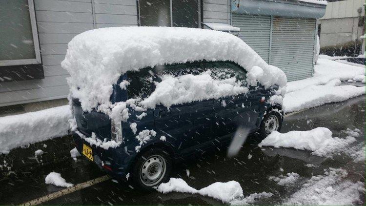 汤沢町冬天的雪
