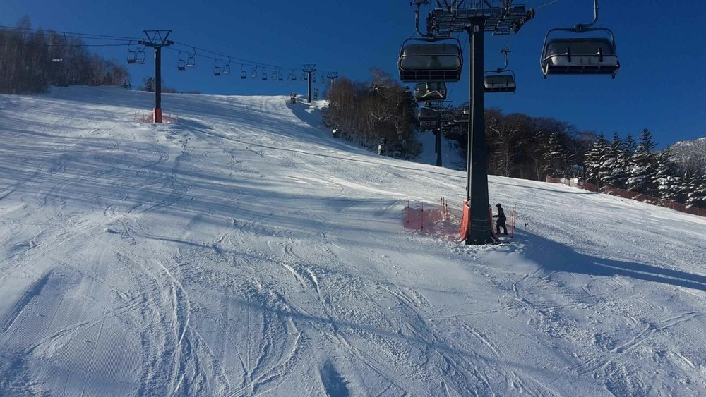 Main slope at Kagura on Thursday December 7th 2017