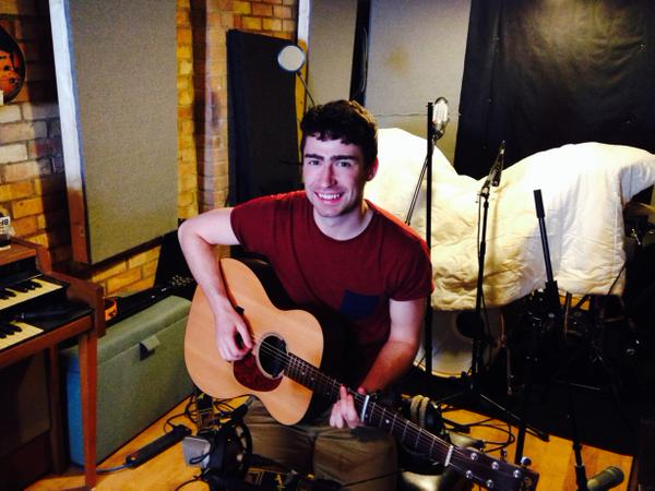 Mark Kelly in the studio