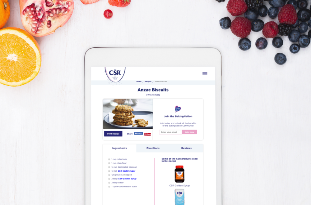 CSR Sugar Website Redesign - User Experience & Website User Interface