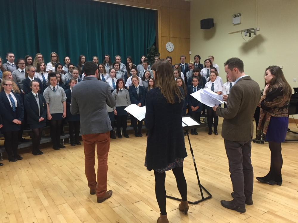 Ardú Education series with Thornhill College, Derry senior choir in preparation for the City of Derry International Choral Festival in which the choir came second place.