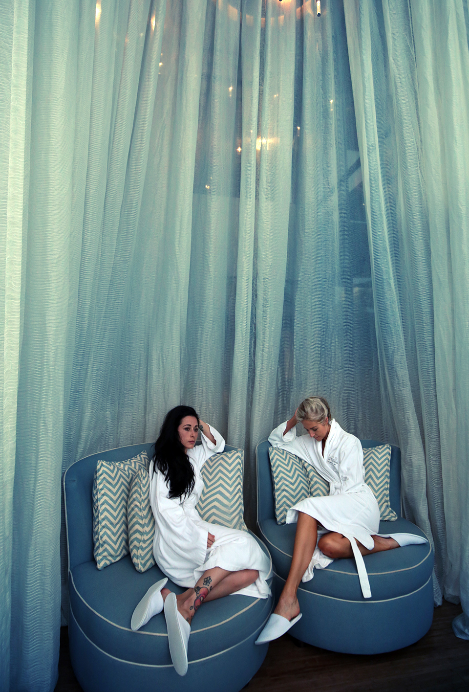 Relaxing with my sis after a spa at the beautiful Fairmont Zimbali resort...
