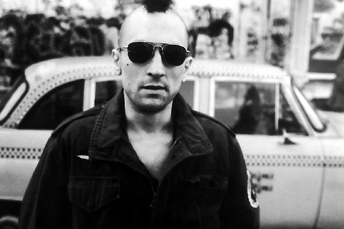 Robert De Niro as Travis Bickle in Taxi Driver