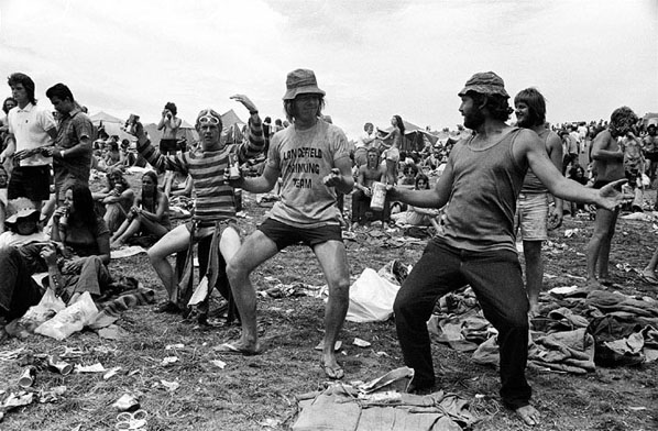 Yobbos, Sunbury Pop Festival  (1974) by Rennie Ellis.