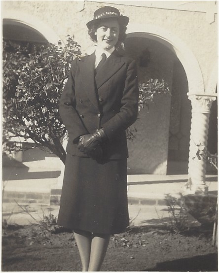 Nana at 18 in her WRANS uniform.