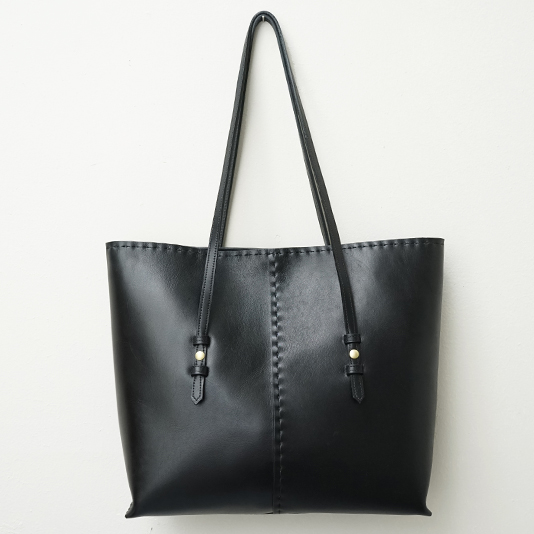 Structured Tote: Black/Naked