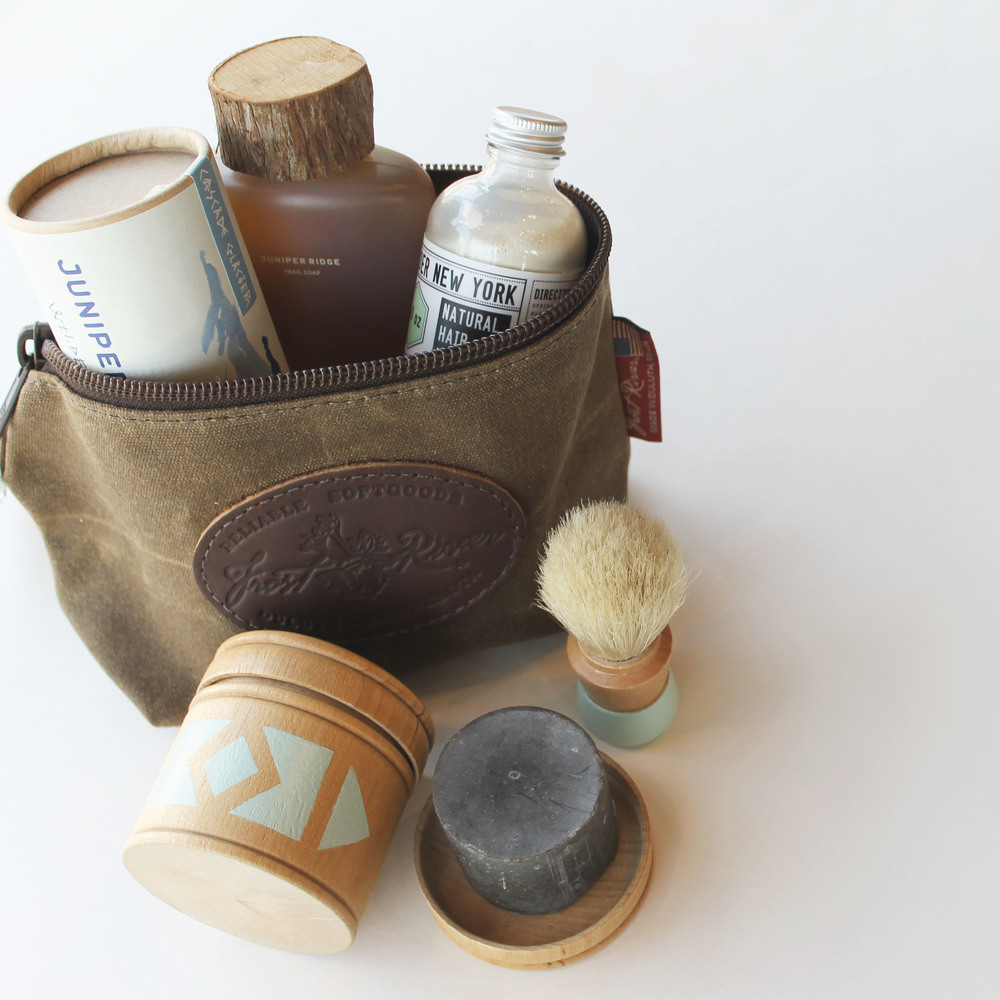 Accessory Bag + Victor Shaving Kit + Crew Soap + Hair Powder + Backpacker Cologne - For the dad who has too many neck-ties and could use an upgrade from the Old Spice
