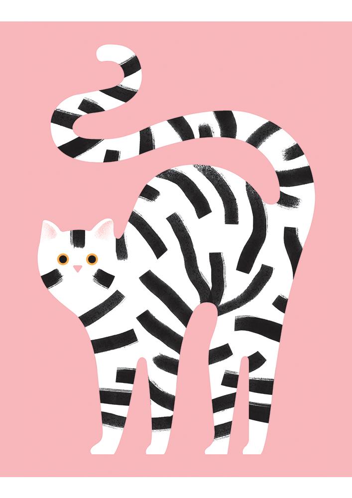 White Cat by  Giacomo Bagnara an Italian illustrator.
