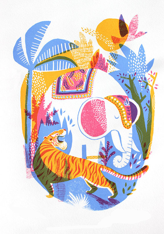 Jungle Screenprint by Essie Kimpimäki