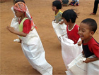 Rice sack races!
